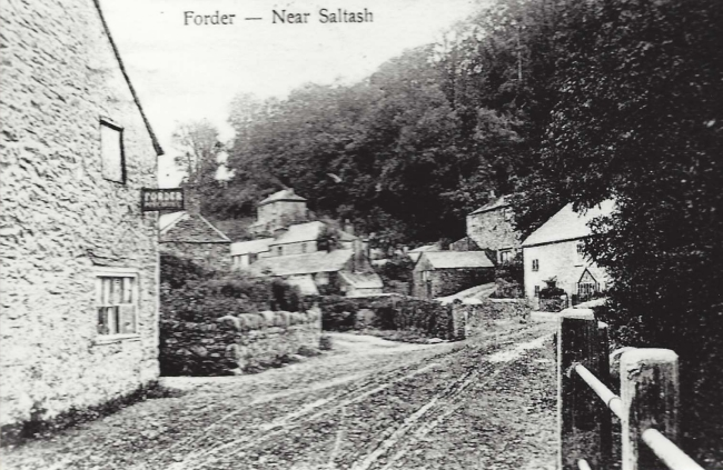 approaching Forder vllage along road from north east pre 1900